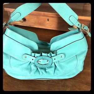Anya Hindmarch Bags - Anya Hindmarch turquoise leather bag-make an offer